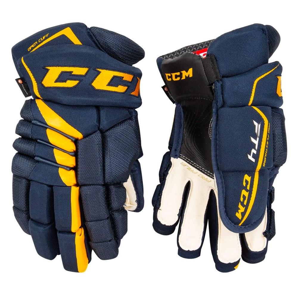 Ccm JetSpeed FT4 Hockeyhanske Marine/Gul