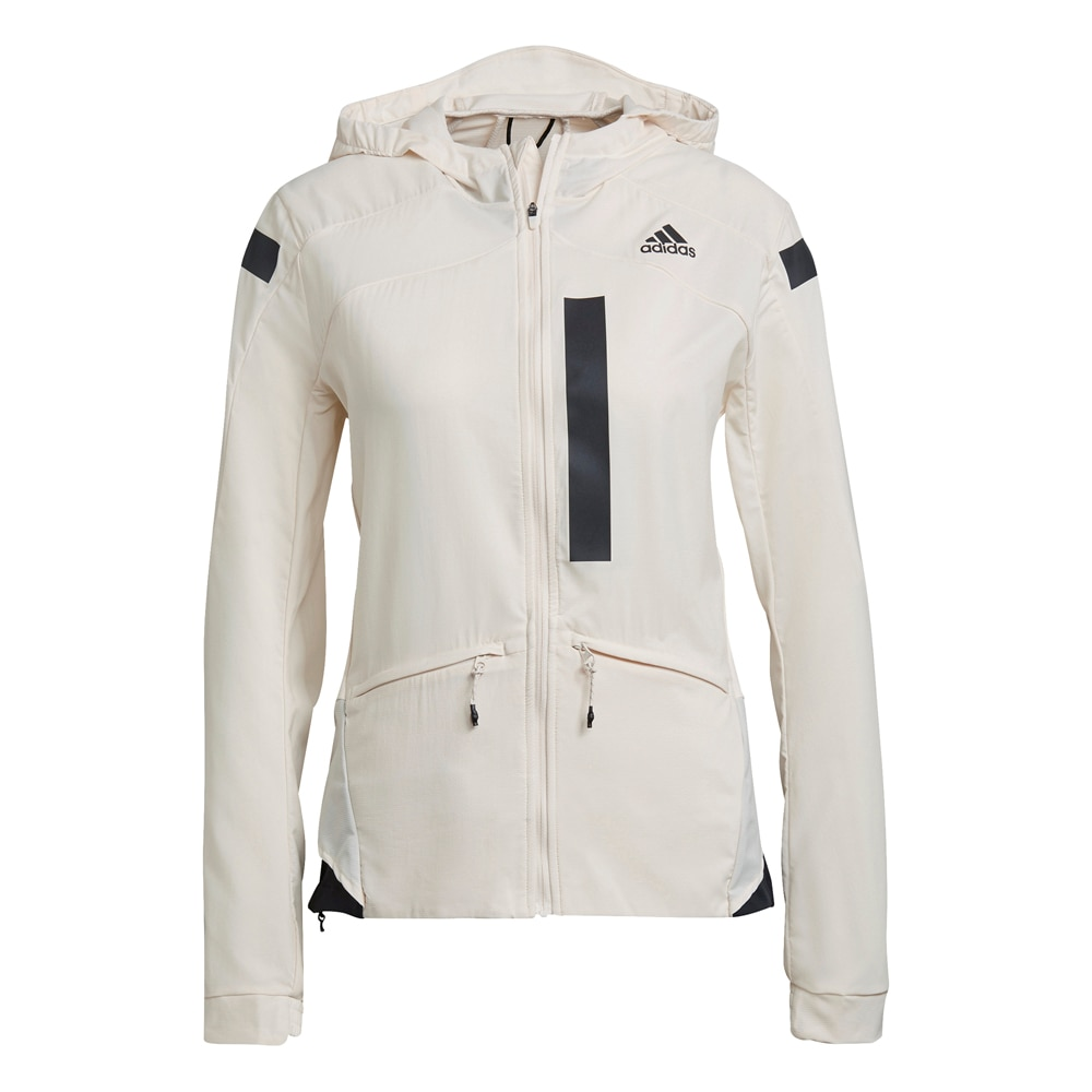 Adidas Marathon Translucent Løpejakke Dame Hvit Vaniljehvit