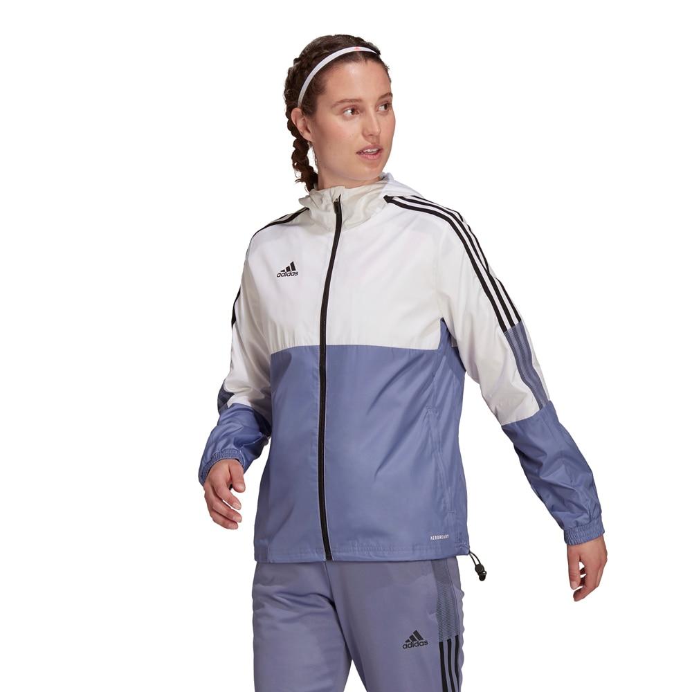 Adidas House of Tiro Windbreaker Jakke Dame Hvit/Blå