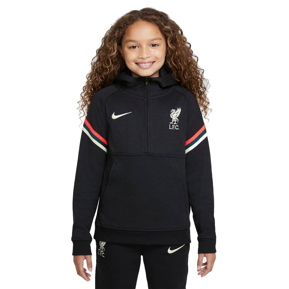 Nike Liverpool FC Travel Fritidsgenser 21/22 Barn Sort