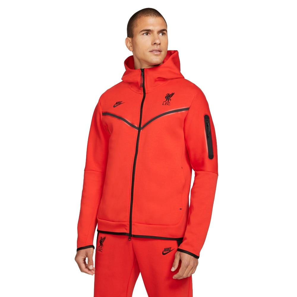 Nike Liverpool FC Tech Fleece Fritidsgenser 21/22 Rød