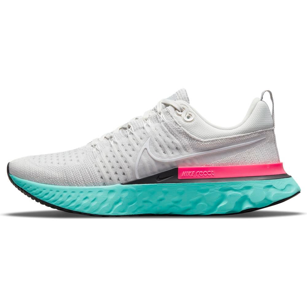 Nike React Infinity Run Flyknit 2 Joggesko Herre Hvit/Turkis