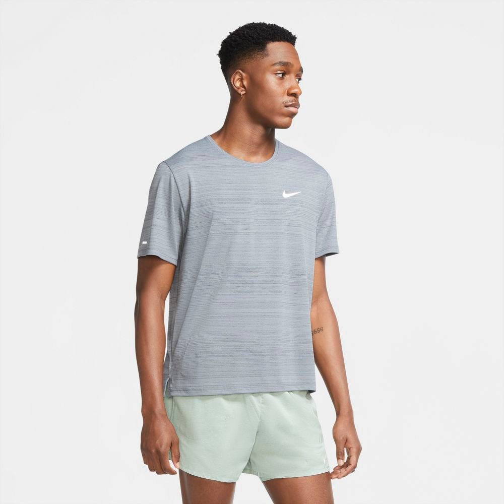 Nike Dry Miler Løpetrøye Herre Grå
