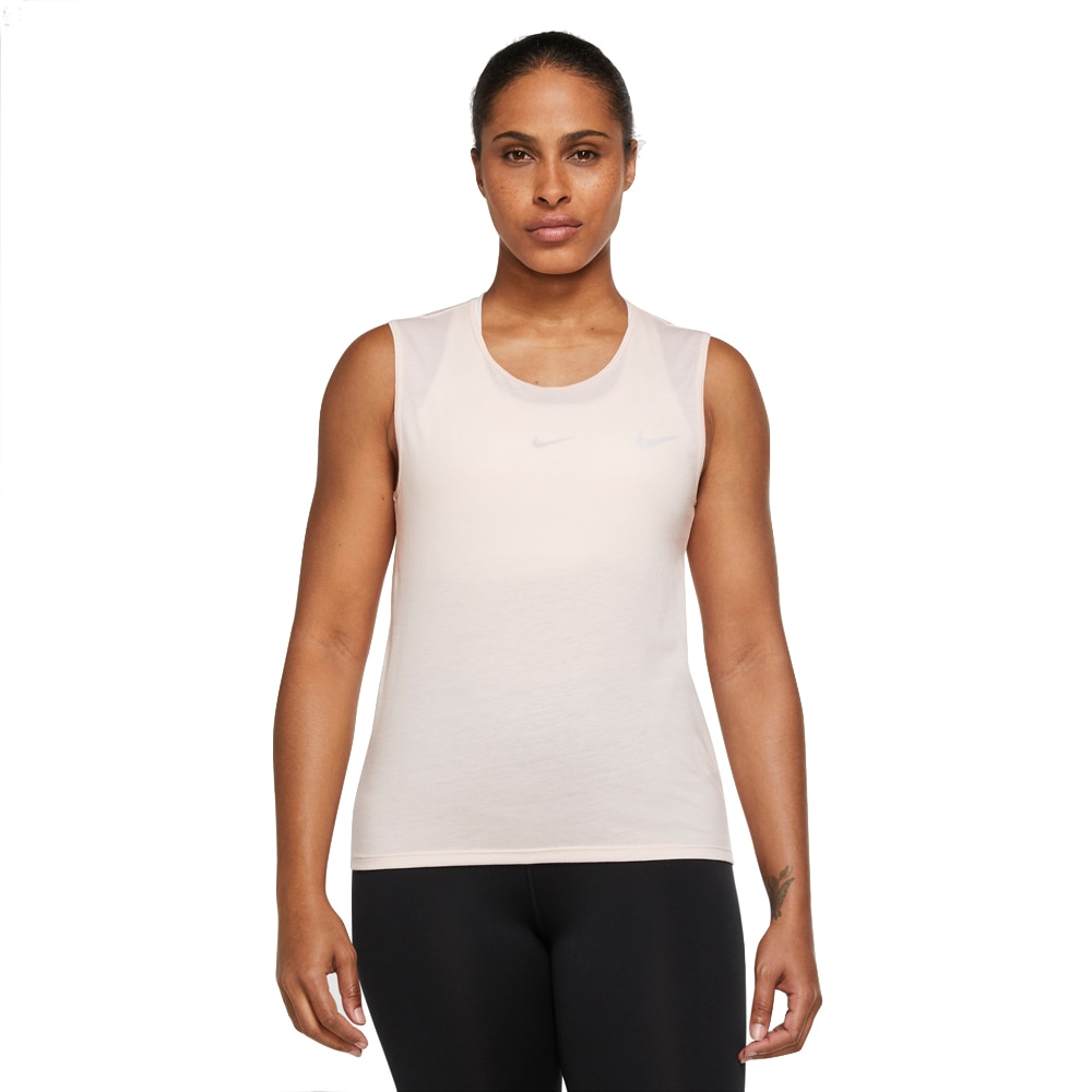 Nike Run Division Tank Singlet Dame Rosa