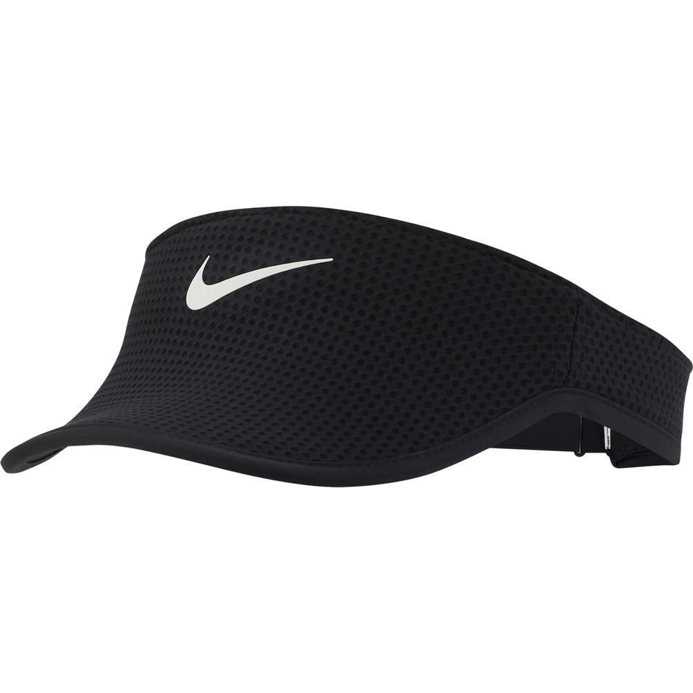 Nike Aerobill Run Visor Caps Dame Sort