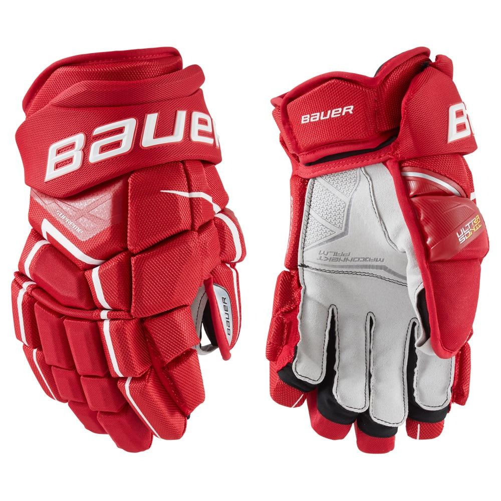 Bauer Supreme Ultrasonic Hockeyhanske Rød