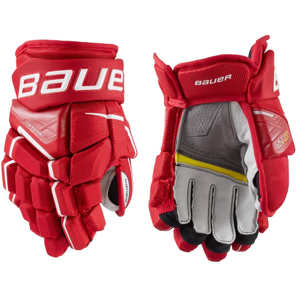 Bauer Supreme Ultrasonic Junior Hockeyhanske Rød