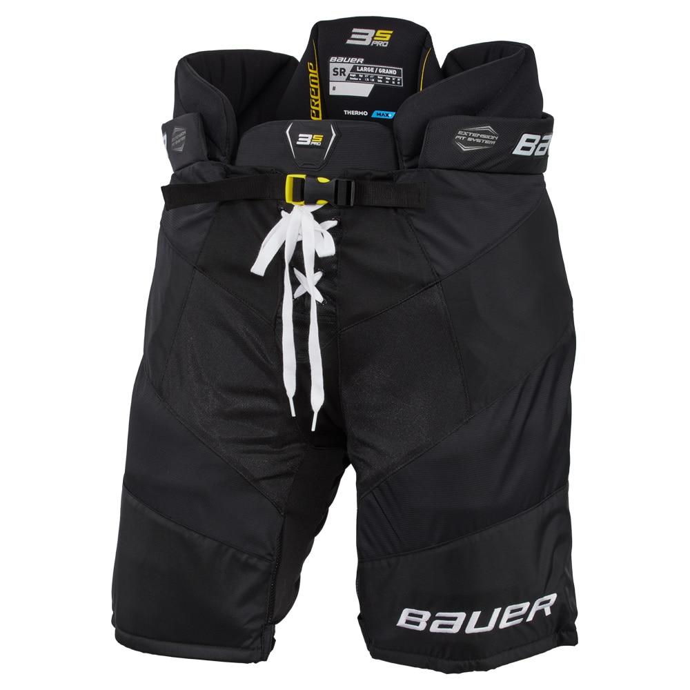 Bauer Supreme 3S PRO Hockeybukse Svart