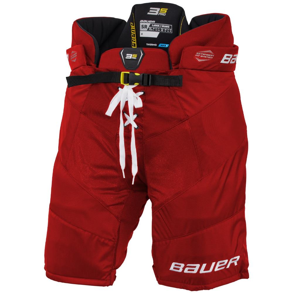 Bauer Supreme 3S PRO Int. Hockeybukse Rød