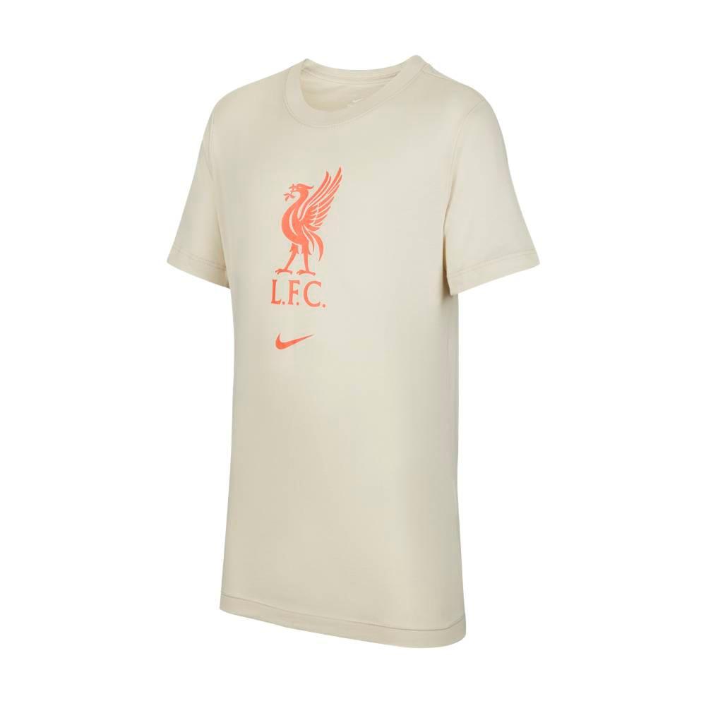 Nike Liverpool FC Evergreen Crest T-Skjorte 21/22 Barn Kremhvit