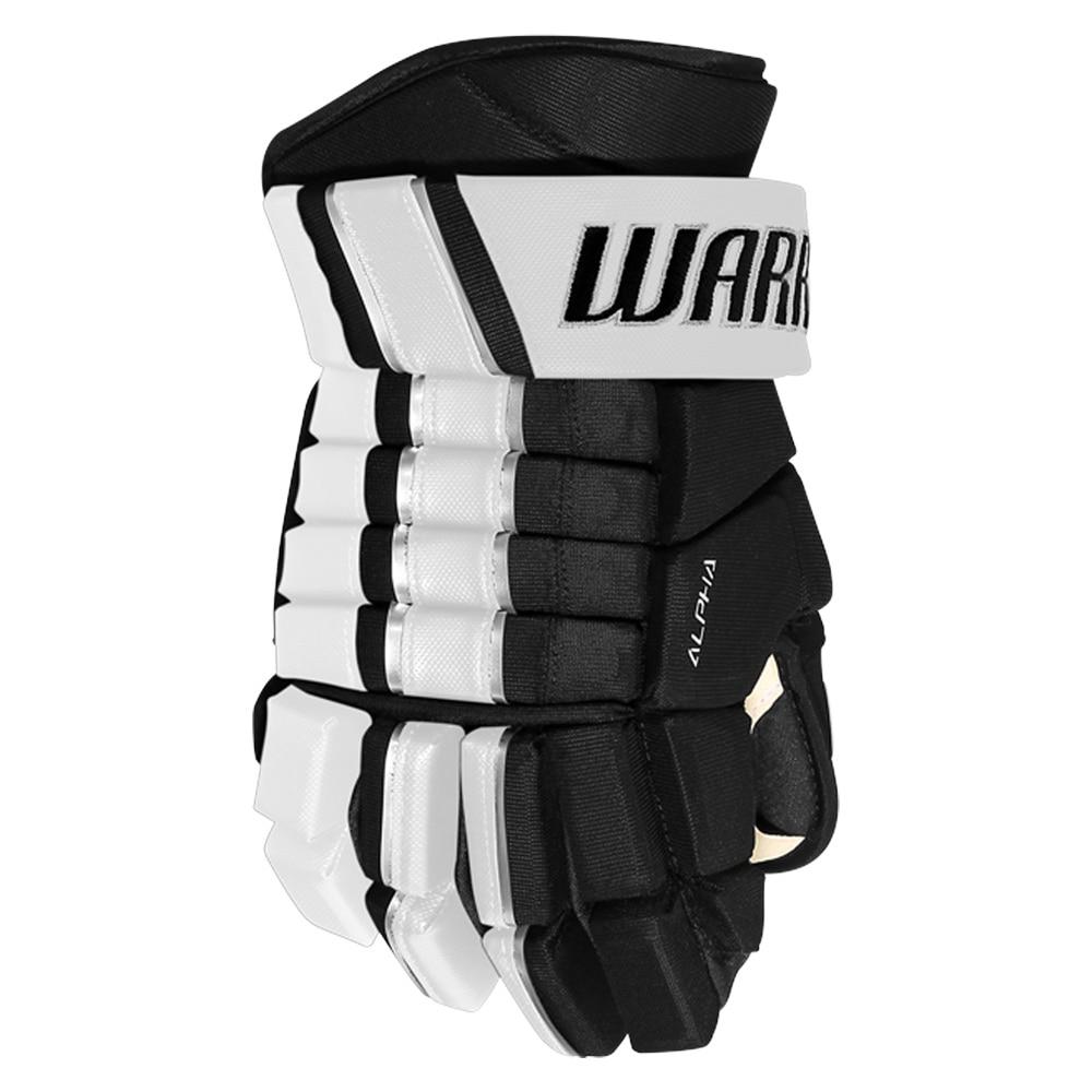 Warrior Alpha FR PRO Hockeyhanske Svart/Hvit