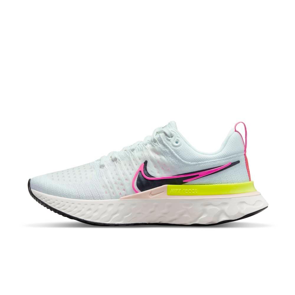 Nike React Infinity Run Flyknit 2 Joggesko Dame Hvit Rawdacious Pack