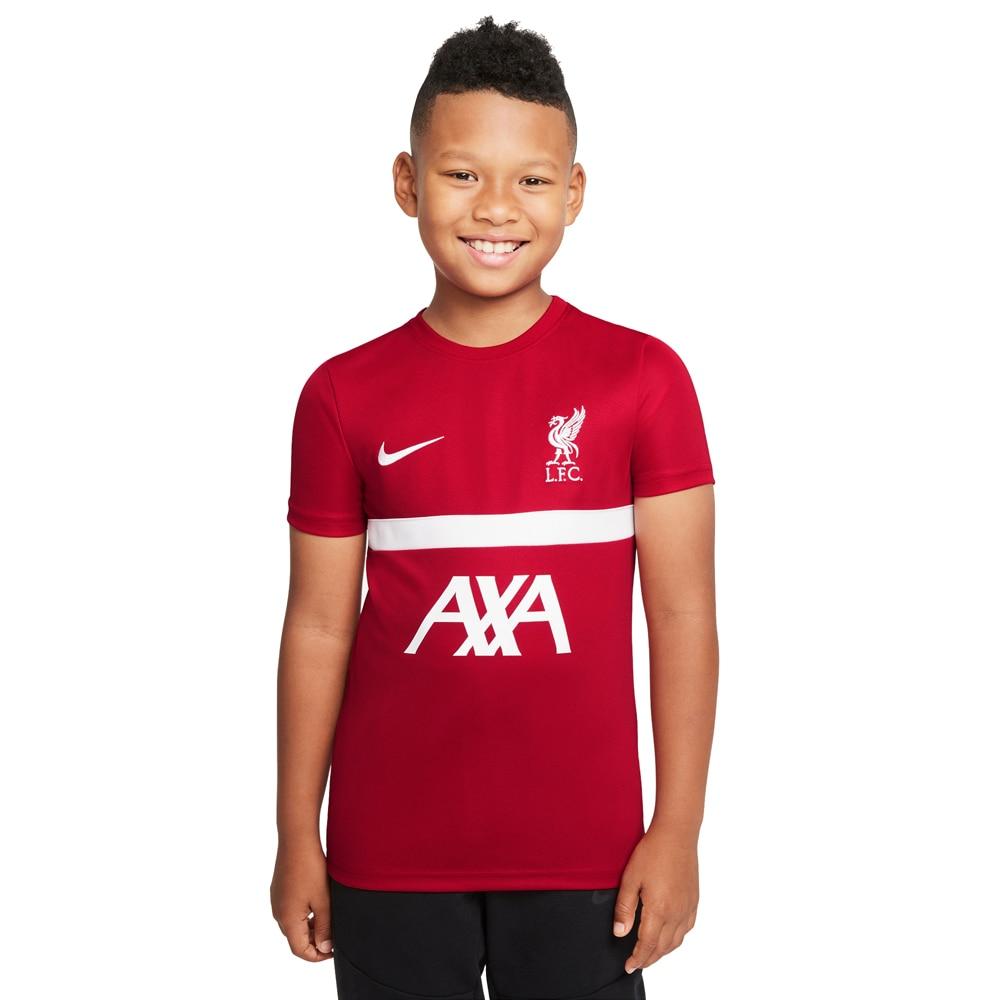 Nike Liverpool FC Academy Treningstrøye 21/22 Barn Rød