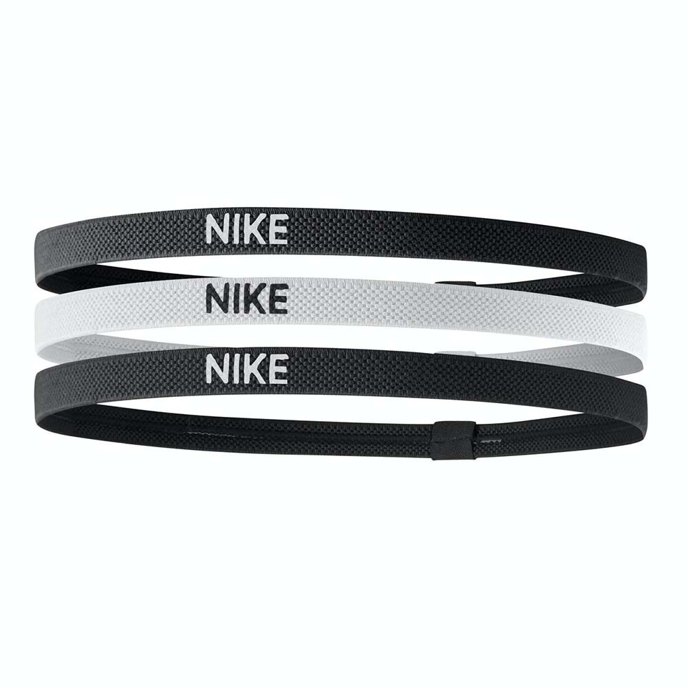 Nike Elastisk Hårbånd 3pk Sort/Hvit