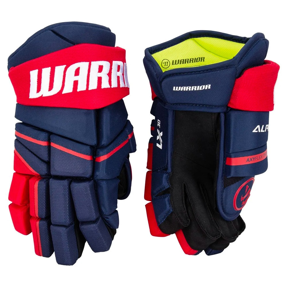 Warrior Alpha LX 30 Hockeyhanske Marine/Rød