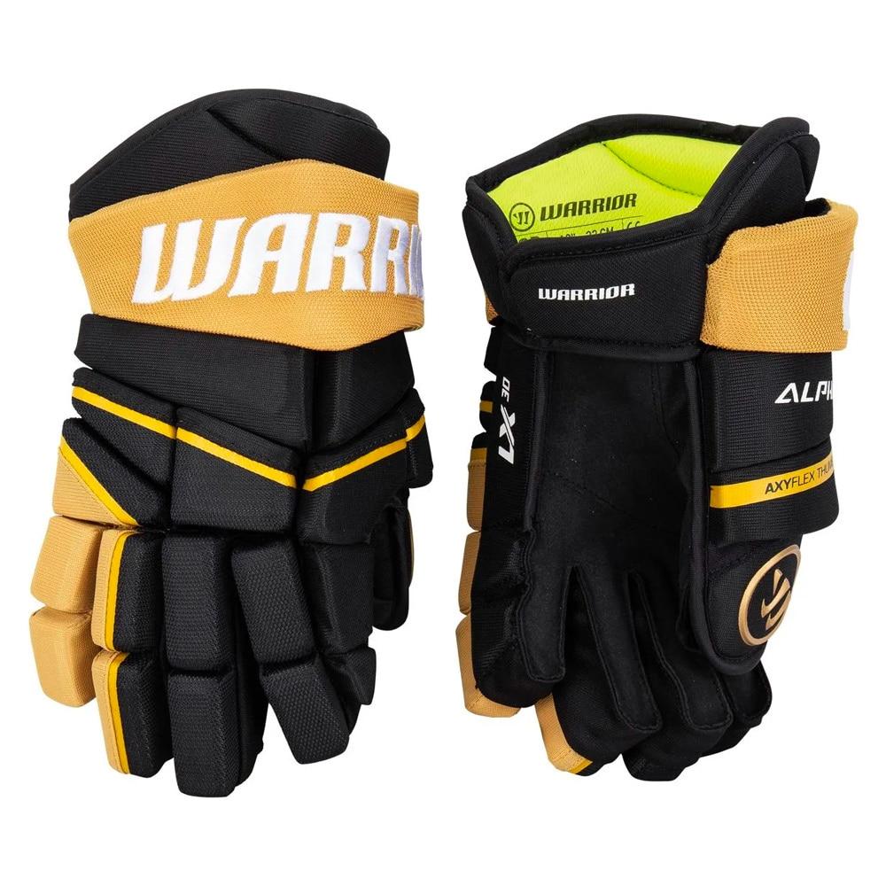 Warrior Alpha LX 30 Hockeyhanske Svart/Gull