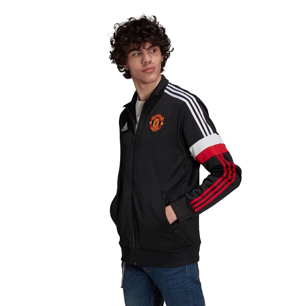 Adidas Manchester United Track Fotballjakke 21/22 Sort