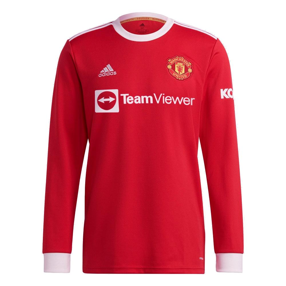 Adidas Manchester United Langermet Fotballdrakt 21/22 Hjemme