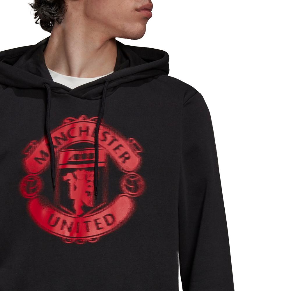 Adidas Manchester United Hoodie Hettegenser Sort/Rød