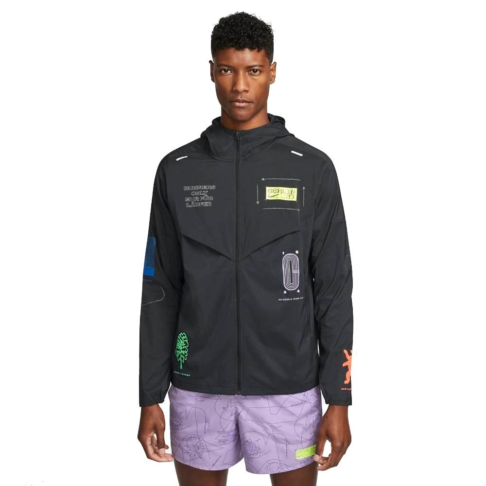Nike Repel UV Windrunner Berlin Treningsjakke Herre Sort