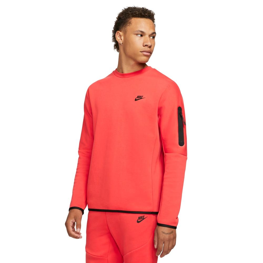 Nike Tech Fleece Crew Fritidsgenser Oransje