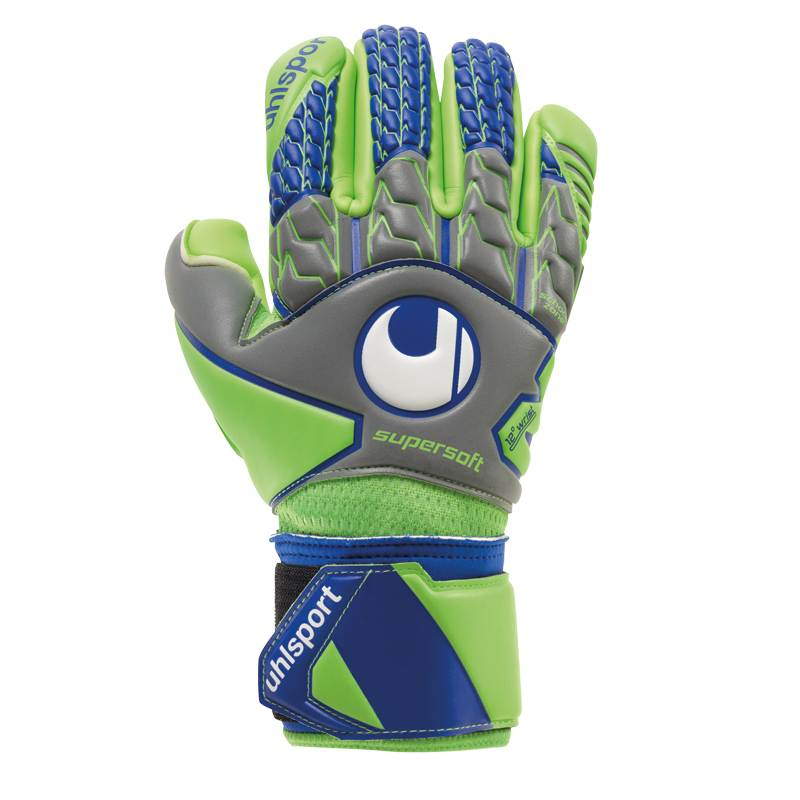 Uhlsport Tensiongreen Supersoft HN Keeperhansker Grå/Grønn