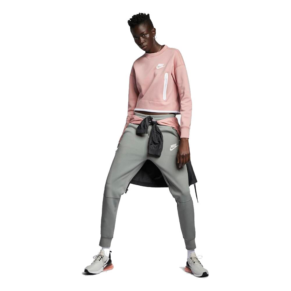 Nike Tech Fleece Fritidsbukse Dame Grå/Grønn