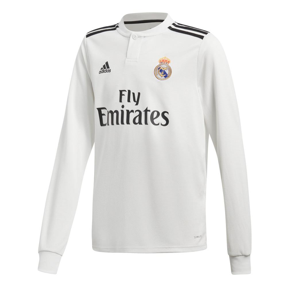 Adidas Real Madrid Langermet Fotballdrakt 18/19 Hjemme Barn
