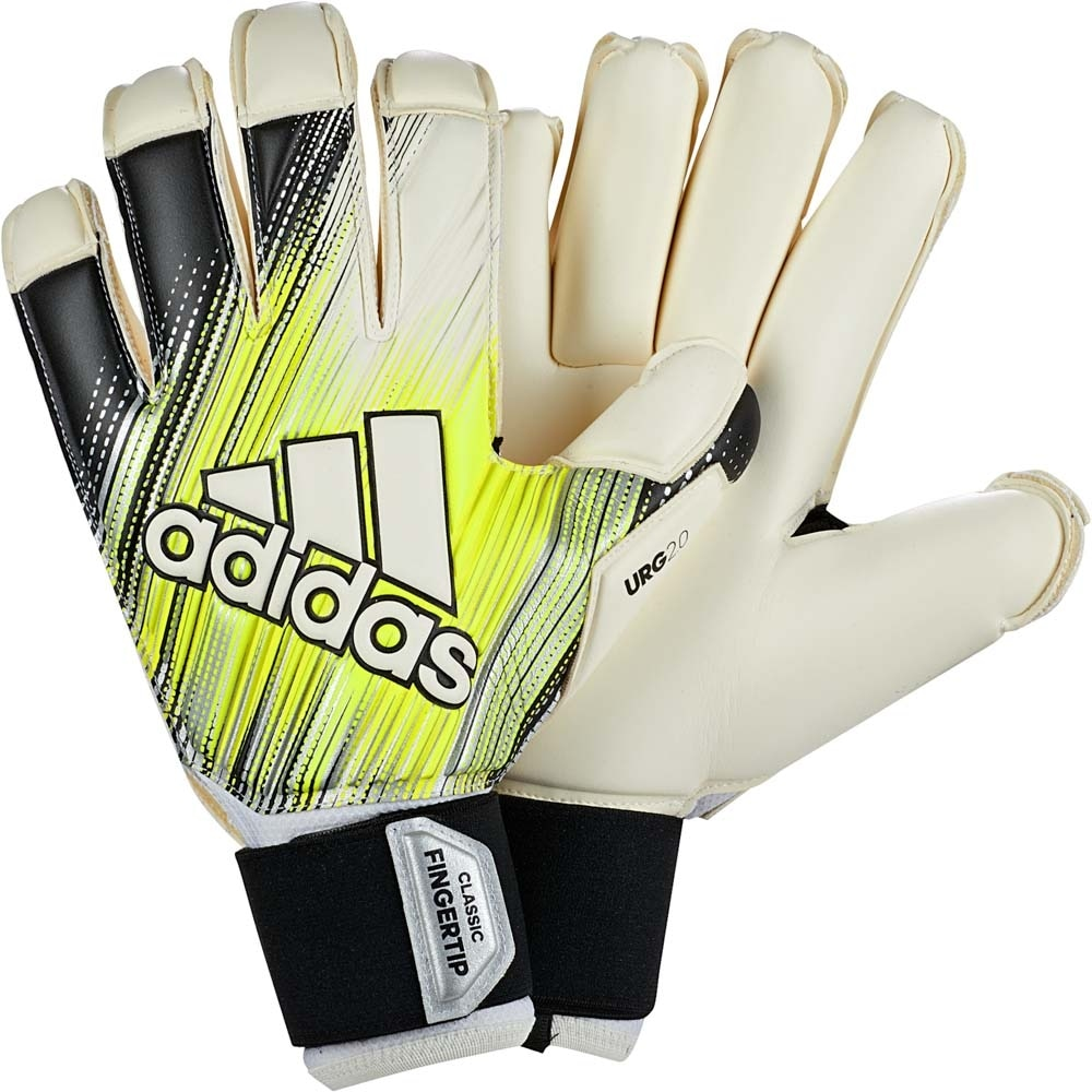 Adidas Classic Pro Fingertip Keeperhansker Sort/Gul