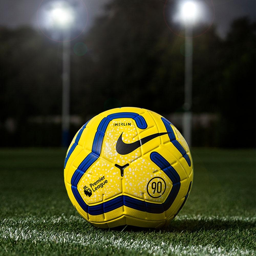 Nike Premier League Merlin Matchball Hi-Vis Fotball 19/20 Gul/Blå
