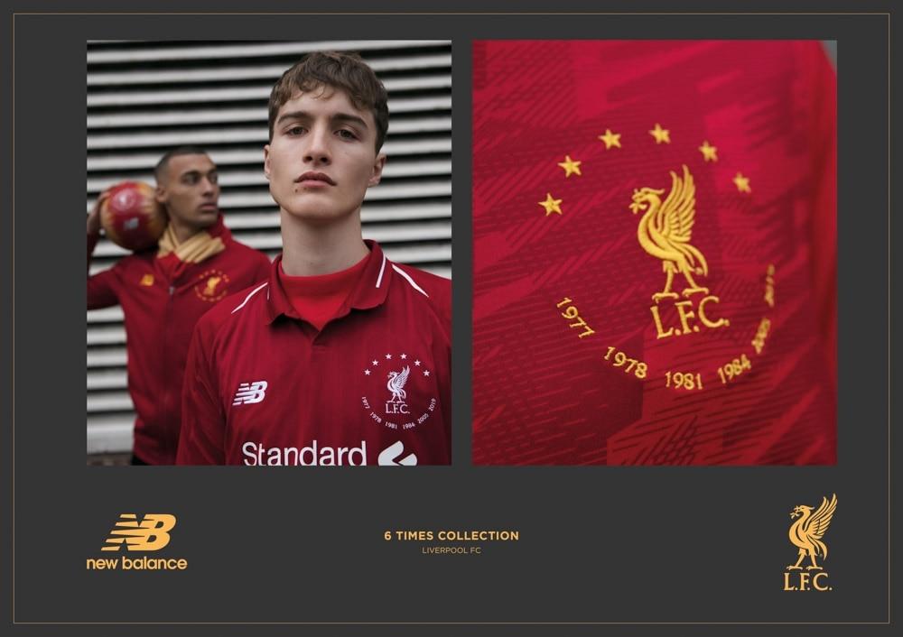 New Balance Liverpool FC Signature Fotballdrakt Hjemme Barn 6 Times Collection