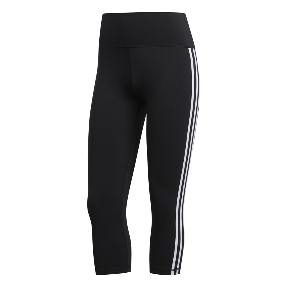 Adidas Three Stripes 3/4 Løpetights Sort Dame