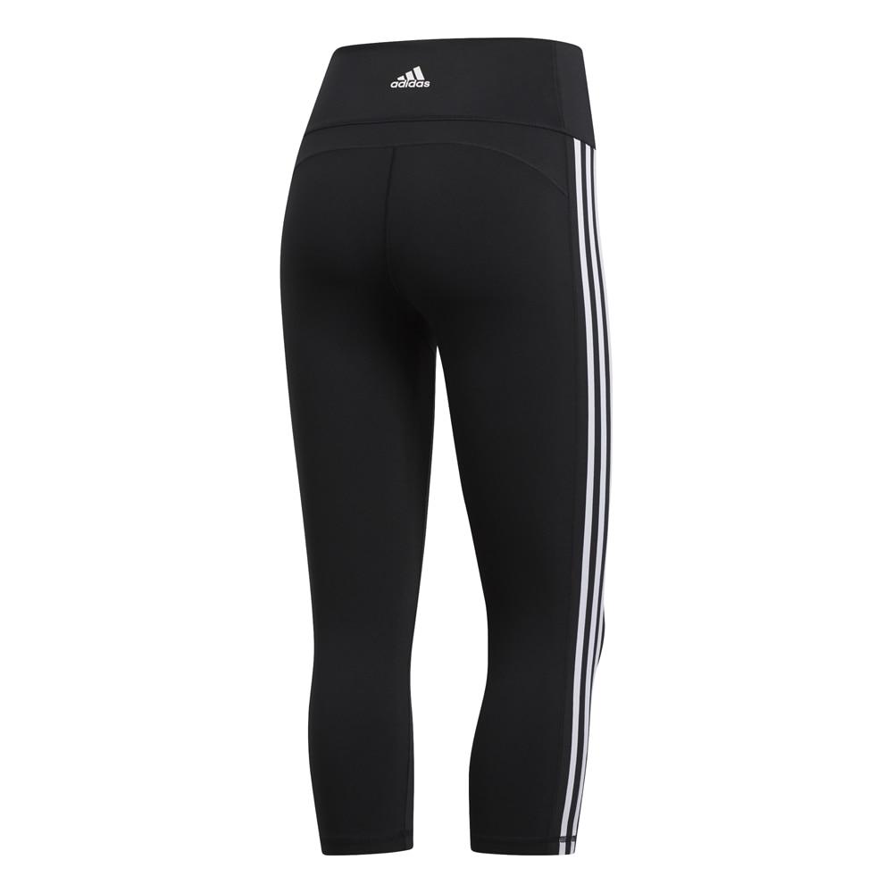 Adidas Three Stripes 3/4 Løpetights Sort Dame