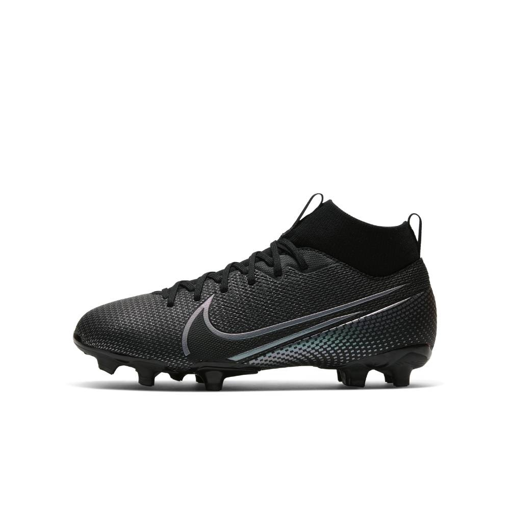 Nike Mercurial Superfly 7 Academy FG/MG Fotballsko Barn Kinetic Black Pack
