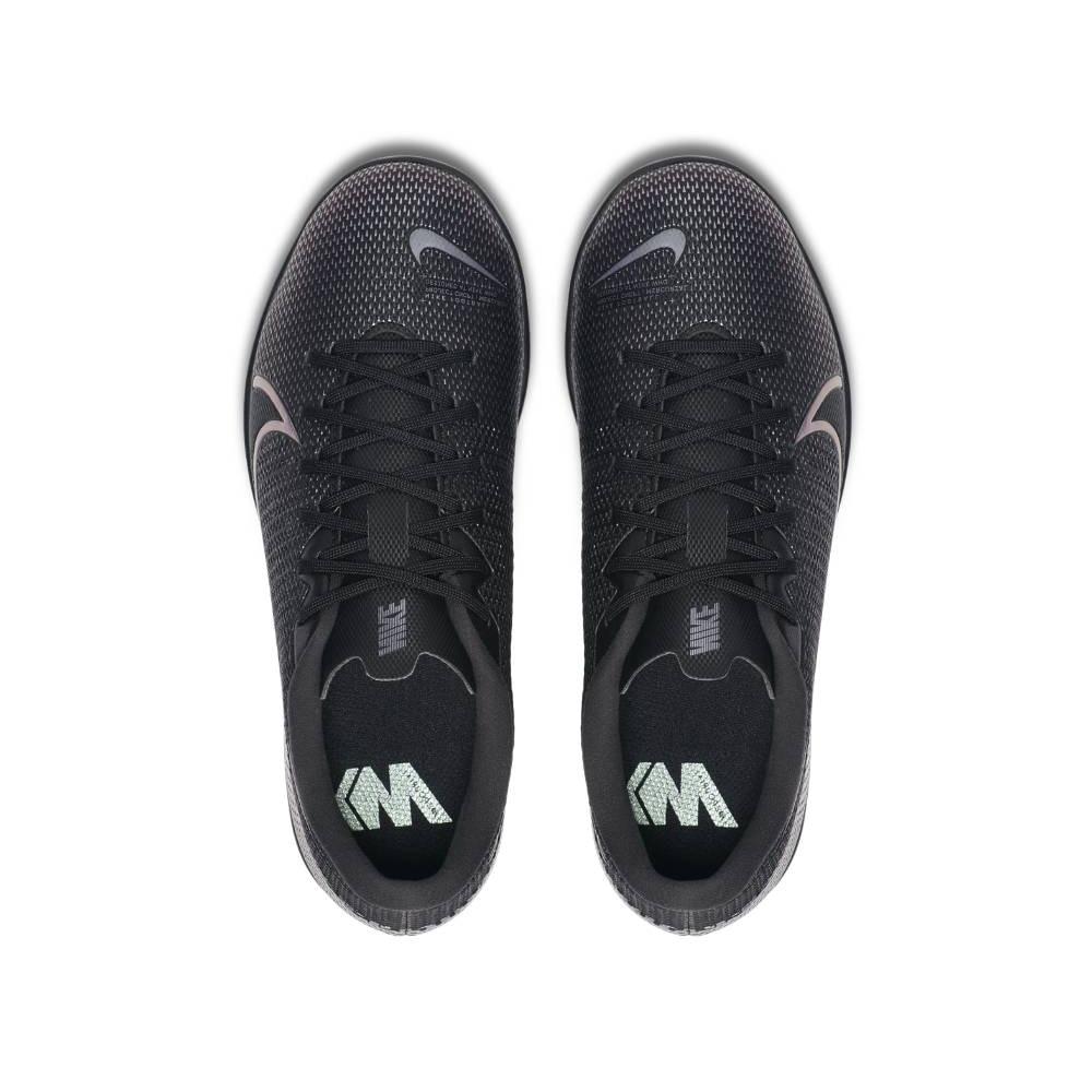 Nike MercurialX Vapor 13 Academy IC Futsal Innendørs Fotballsko Barn Kinetic Black Pack