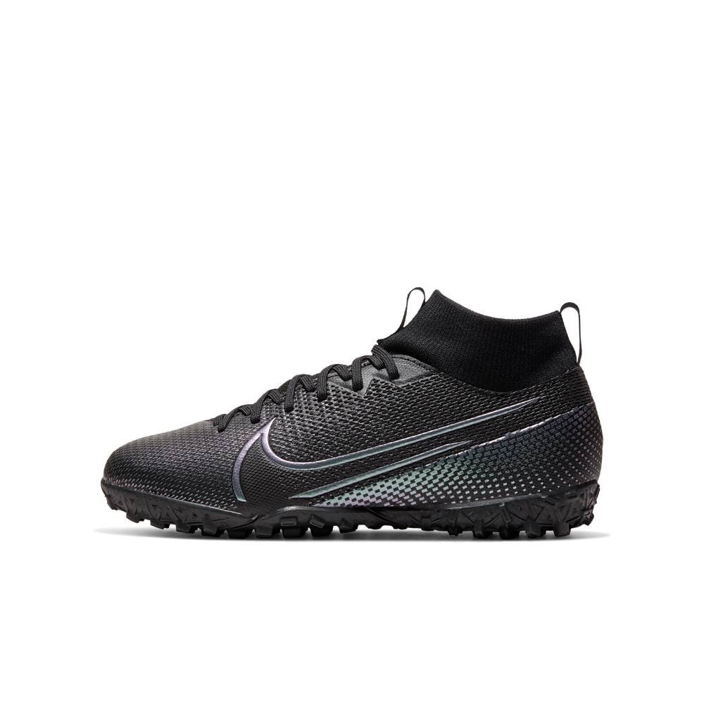 Nike MercurialX Superfly 7 Academy TF Fotballsko Barn Kinetic Black Pack