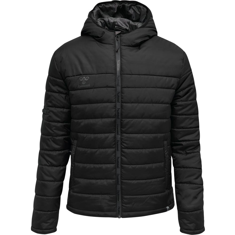 Hummel North Quilted Hood Jakke Sort Barn