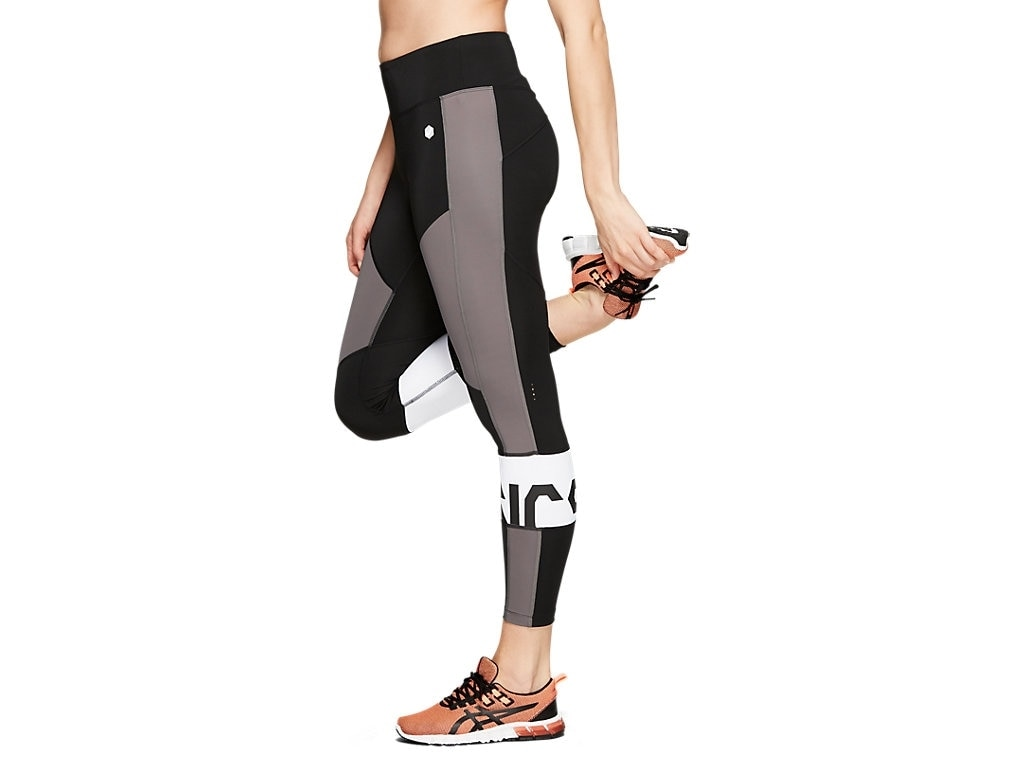 Asics Color Block Cropped Tights 2 Dame Sort